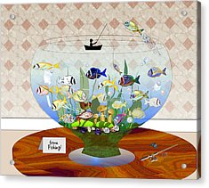 Gone Fishing Acrylic Print by Arline Wagner