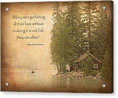 Gone Fishing... Acrylic Print