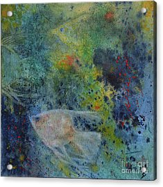 Acrylic Print featuring the painting Gone Fishing by Karen Fleschler