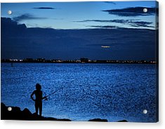 Acrylic Print featuring the photograph Gone Fishing by Laura DAddona