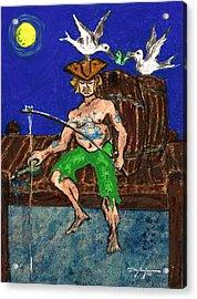 Gone Fishing Acrylic Print by William Depaula