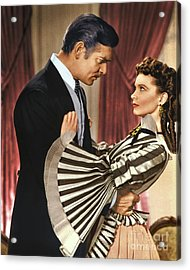 Gone With The Wind - 1939 - Completely Retouched In Color Acrylic Print