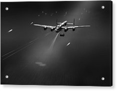 Acrylic Print featuring the photograph Goner From Dambuster J-johnny Bw Version by Gary Eason