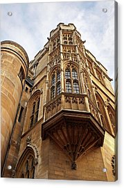 Acrylic Print featuring the photograph Gonville And Caius College Library Cambridge by Gill Billington