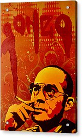 Gonzo - Hunter S. Thompson Acrylic Print by Tai Taeoalii