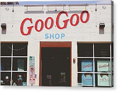 Goo Goo Shop- Photography By Linda Woods Acrylic Print by Linda Woods