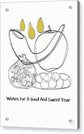 Good And Sweet Year- Art By Linda Woods Acrylic Print