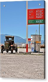 Good Bye Death Valley - The End Of The Desert Acrylic Print by Christine Till