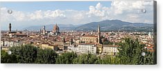 Goodbye To Florence Acrylic Print by Allan Levin