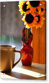 Good Day Brewing Acrylic Print by Peter  McIntosh
