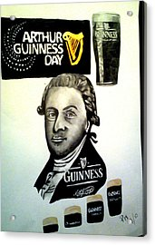 Good Day For A Guinness Acrylic Print by Pauline Murphy