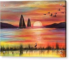 Acrylic Print featuring the painting Good Eveving by Denise Tomasura