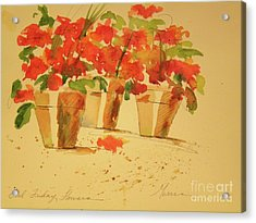 Good Friday Flowers Acrylic Print by Jill Morris