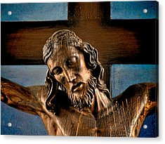 Good Friday Jesus On The Cross Acrylic Print by Christine Till