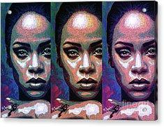 Good Girl Gone Bad Acrylic Print by Maria Arango
