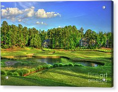 Good Golf The Landing Reynolds Plantation Golf Art Acrylic Print by Reid Callaway