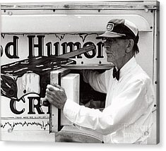 Good Humor Man Acrylic Print by Diane E Berry