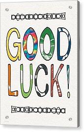 Good Luck Card- Art By Linda Woods Acrylic Print