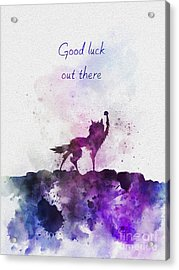 Good Luck Out There Acrylic Print by Rebecca Jenkins