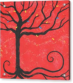 Good Luck Tree - Left Acrylic Print by Kristi L Randall