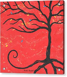 Good Luck Tree - Right Acrylic Print by Kristi L Randall