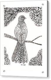 Good Morning Birdie Acrylic Print by Paula Dickerhoff