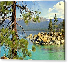 Acrylic Print featuring the photograph Good Morning From Lake Tahoe by Lynn Bawden