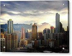 Acrylic Print featuring the photograph Good Morning, Hong Kong by Geoffrey Lewis