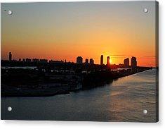 Good Morning Miami Acrylic Print by Shelley Neff