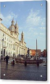 Good Morning Piazza Navona Acrylic Print by JAMART Photography