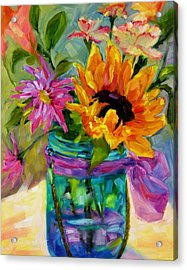 Acrylic Print featuring the painting Good Morning Sunshine by Chris Brandley