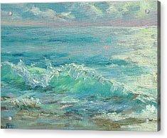 Good Morning Surf Acrylic Print by Barbara Hageman