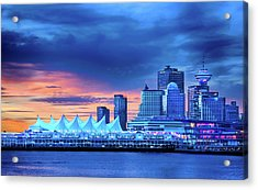 Acrylic Print featuring the photograph Good Morning Vancouver by John Poon
