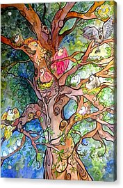 Good Neighbors Acrylic Print by Claudia Cole Meek