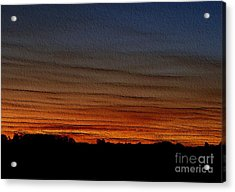 Good Night - Embossed Acrylic Print by Erica Hanel