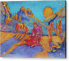 Good Samaritan Parable Painting Bertram Poole Acrylic Print by Thomas Bertram POOLE