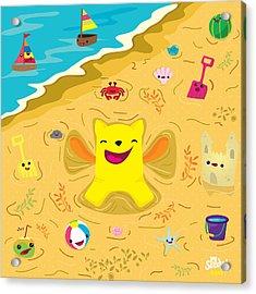 Good Vibes At The Beach Acrylic Print
