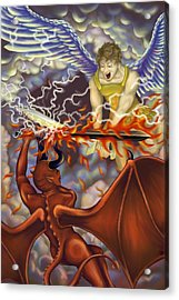 Good Vs Evil Acrylic Print by Tom Wrenn