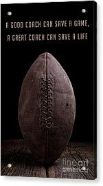 Acrylic Print featuring the photograph Good Vs Great Football Coaches by Edward Fielding