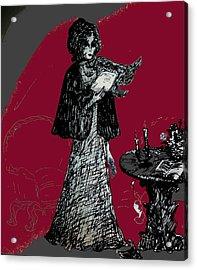 Goodbye Letter Acrylic Print by Rae Chichilnitsky