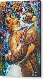 Goodbye My Miau  Acrylic Print by Leonid Afremov