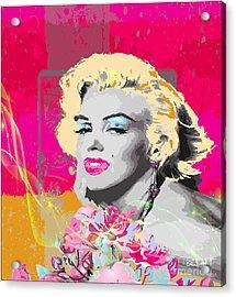 Acrylic Print featuring the digital art Goodbye Norma Jean  by Eleni Mac Synodinos