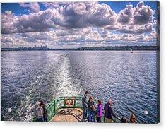 Goodbye Seattle Acrylic Print by Spencer McDonald