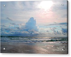 Acrylic Print featuring the photograph Goodbye Storm by Linda Mesibov
