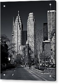 Gooderham Flatiron Building And Toronto Downtown Acrylic Print