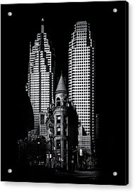 Acrylic Print featuring the photograph Gooderham Flatiron Building And Toronto Downtown No 2 by Brian Carson