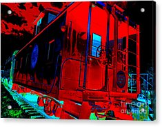 Goodnight Caboose Acrylic Print by Chuck Taylor