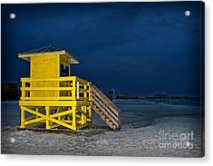 Goodnight Siesta Key Acrylic Print