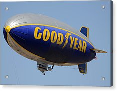 Goodyear Blimp Spirit Of Innovation Goodyear Arizona September 13 2015 Acrylic Print by Brian Lockett