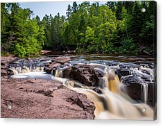 Goose Berry River Rapids Acrylic Print by Paul Freidlund